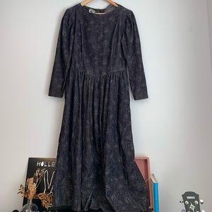 RARE VINTAGE LAURA ASHLEY corduroy dress